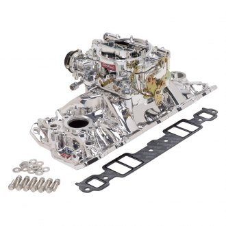 Edelbrock® - Performer™ EPS Single-Quad Intake Manifold and Carburetor Kit