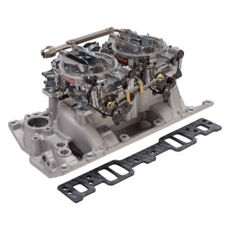 Edelbrock® - Performer™ RPM Air-Gap Dual-Quad Intake Manifold and Carburetor Kit