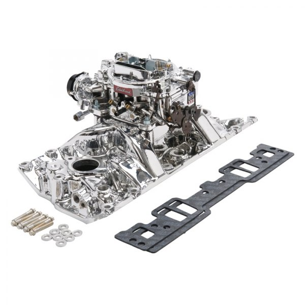Edelbrock® - Performer™ RPM Single-Quad Intake Manifold and Carburetor Kit