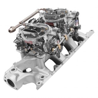 Edelbrock® - Performer™ Air-Gap Single-Quad Intake Manifold and Carburetor Kit