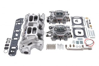 Edelbrock® - Performer RPM Manifold and Carburetor Kit For Performer RPM Air-Gap