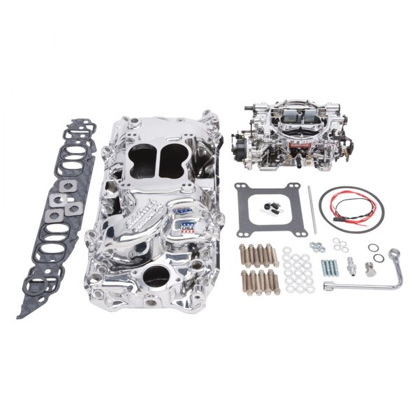 Edelbrock® - Performer Single-Quad Intake Manifold and Carburetor Kit