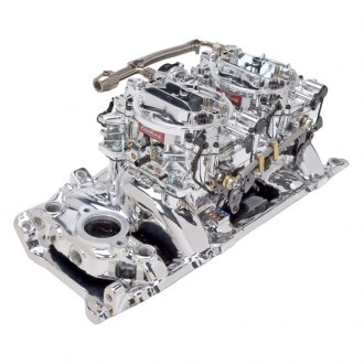 Edelbrock® - RPM Air-Gap Dual-Quad Intake Manifold and Carburetor Kit