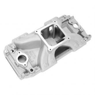 Edelbrock® - Victor™ Satin Carbureted Single Plane Intake Manifold
