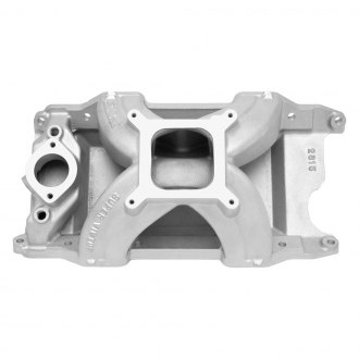 Edelbrock® - Super Victor™ Satin Carbureted Single Plane Intake Manifold