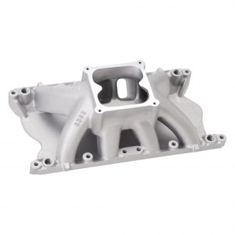 Edelbrock® - Glidden Victor Satin Carbureted Single Plane Intake Manifold