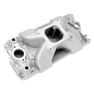 Edelbrock® - Victor™ E Satin Carbureted Single Plane Intake Manifold
