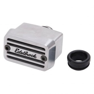 Edelbrock® - Elite Series Tall PCV Breather with Edelbrock logo