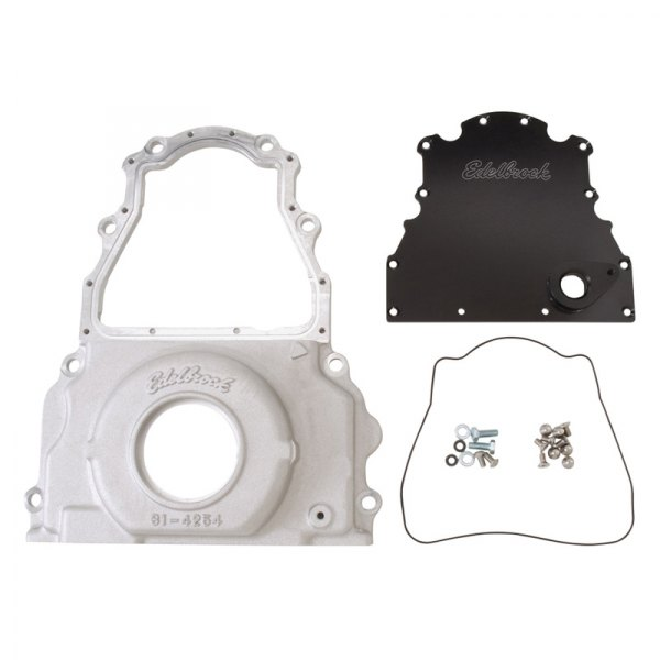 Edelbrock® - Two-Piece Aluminum Timing Cover Image may not reflect your exact vehicle!