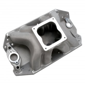 Edelbrock® - Big Victor™ 2 Spread-Port Satin Carbureted Single Plane Intake Manifold