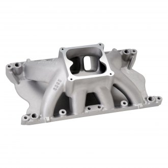 Edelbrock® - Glidden Victor™ Satin Carbureted Single Plane Intake Manifold