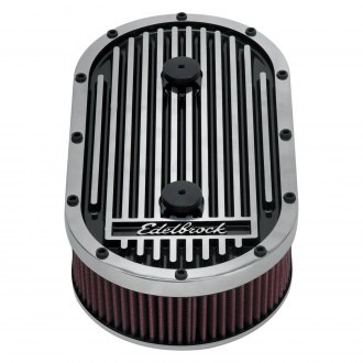 "Edelbrock® - Elite II Series™ Oval Air Cleaner Assembly (3.5"" H)"