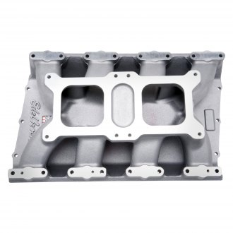 Edelbrock® - Dual-Quad Satin Carbureted Intake Manifold