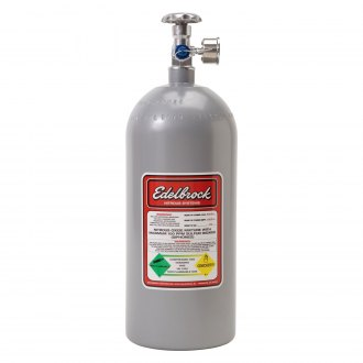 Edelbrock® - Nitrous Bottle with Racer Safety Adapter and Gauge