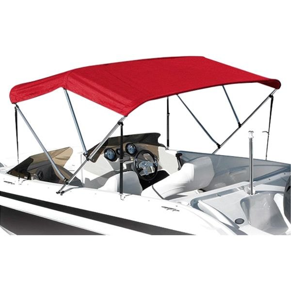 "Eevelle® - Summerset™ Premium 3-Bow Red Bimini Top Fabric 72"" L x 90"" W"
