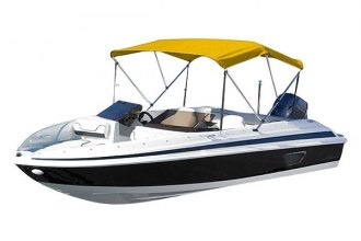 "Eevelle® - Summerset™ Premium 3-Bow Yellow Bimini Top 72"" L x 54""-60"" W x 46"" H"