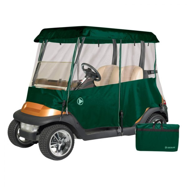 Eevelle® - Greenline™ 2-Person Drivable Torrey Green Golf Car Enclosure