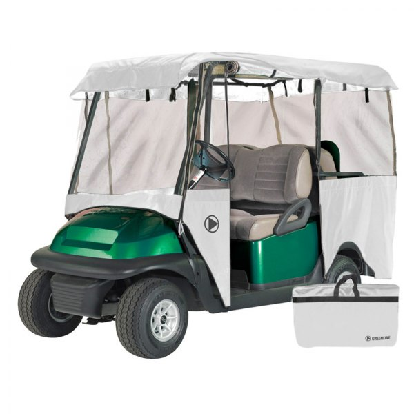 Eevelle® - Greenline™ 4-Person Drivable Stone White Golf Car Enclosure