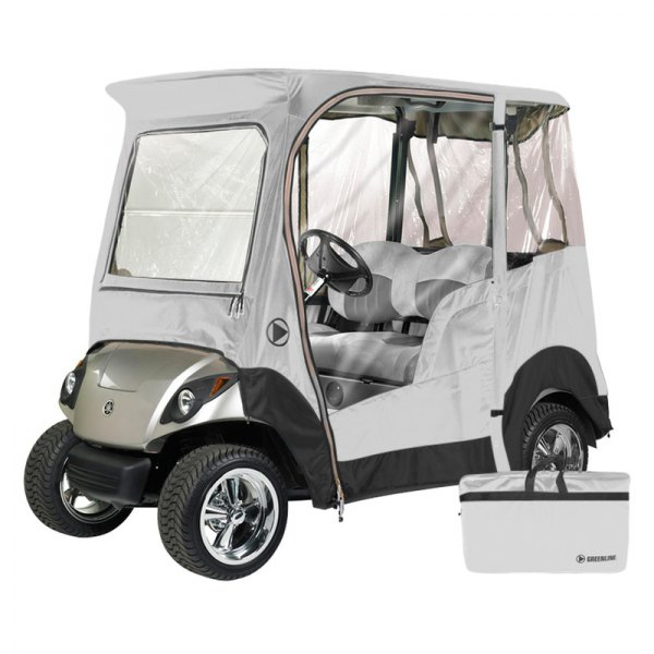 Eevelle® - Greenline™ Yamaha Drive™ 2-Person Stone White Golf Car Enclosure
