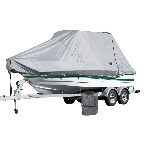 Eevelle® - Trident™ Titan™ Gray Full Trailerable T-Top Boat Cover