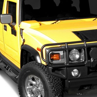 E&G Classics® - 6-Pc Street Style Black Front and Rear Fender Flares