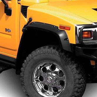 E&G Classics® - 12-Pc Off Road Style Black Front and Rear Fender Flares