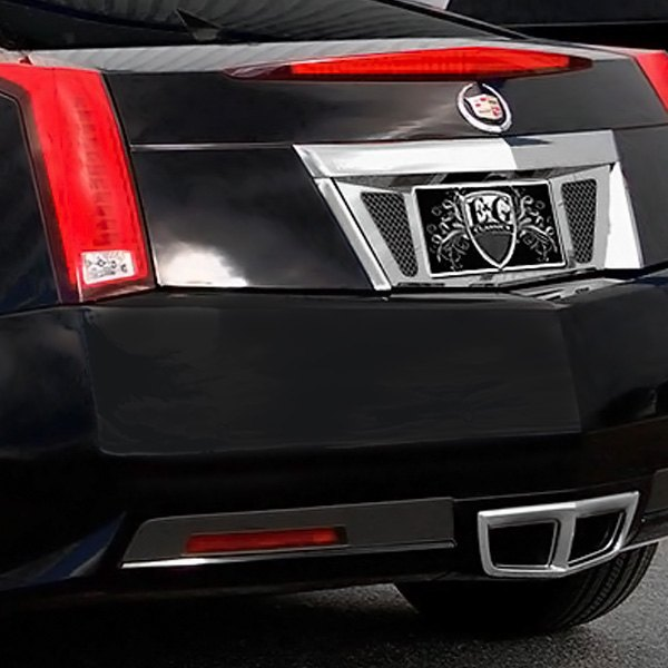 E g classics cadillac cts 2014 chrome license tag surround - Cadillac cts interior accessories ...
