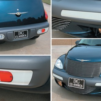 E&G Classics® - Polished Front and Rear Factory Bumper Insert Set
