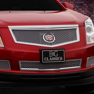 E&G Classics® - 2-Pc Chrome Heavy Mesh Front Brake Duct Cover Grilles