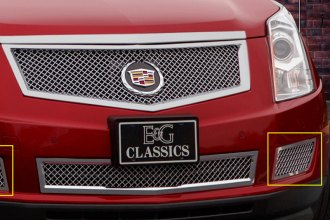 E&G Classics® 1003-010W-10H - Chrome Heavy Mesh Front Brake Duct Covers