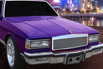 E&G Classics® - Low Profile Chrome Dual Weave Mesh Grille