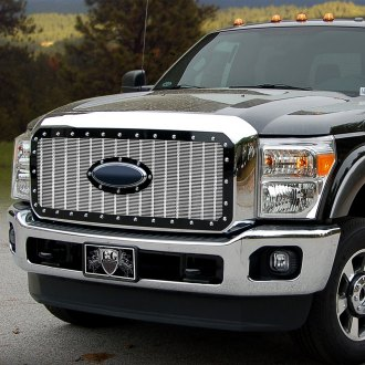 E&G Classics® - E-Power Braided Armor Style Chrome Mesh Main Grille