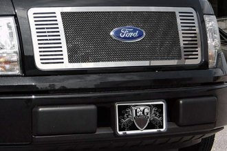 "E&G Classics® - Black Ice Fine Mesh Grille with ""Q"" Bar"