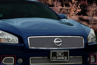 E&G Classics® 1083-010W-09 - Chrome Heavy Mesh Brake Duct Covers