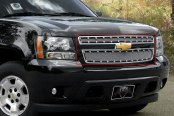 Image may not reflect your exact vehicle! E&G Classics® - E-Power Chrome Fine Mesh Grille