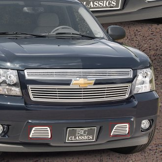 "E&G Classics® - ""Q"" Style Chrome Tow Hook Cover Grilles"