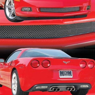 E&G Classics® - Front Chrome Mesh Grille Kit and Mesh Exhaust Surround