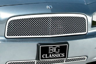 E&G Classics® 1350-0104-06 - 2-Pc Chrome Heavy Metal Mesh Grille Kit