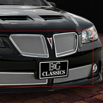 E&G Classics® - Chrome Fine Mesh Grille Kit with Rear Insert