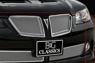 E&G Classics® 1389-0015-08 - Chrome Fine Mesh Grille Kit with Rear Insert