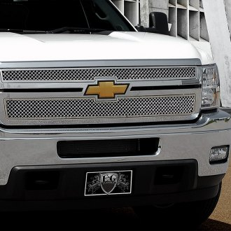 E&G Classics® - 2-Pc Chrome Heavy Mesh Main Grille