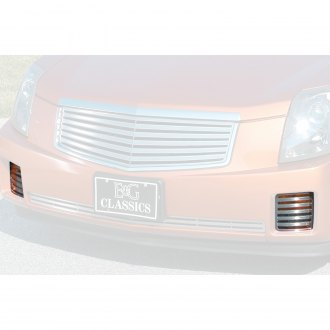 "E&G Classics® - 2-Pc Classic Series ""Q"" Style Polished CNC Machined Driving Light Cover Grilles"