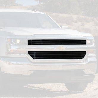 2018 Chevy Silverado Custom Grilles Billet Mesh Led Chrome Black