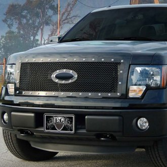 E&G Classics® - 1-Pc E-Power Series Gloss Black Heavy Mesh Main Grille