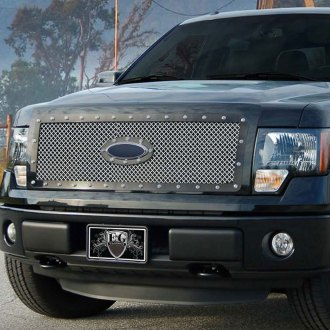 E&G Classics® - 1-Pc E-Power Series Chrome Heavy Mesh Main Grille