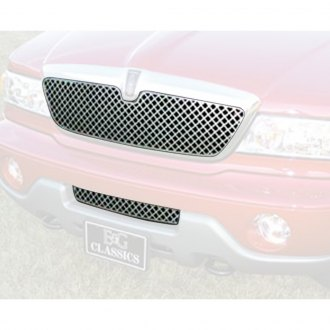 "E&G Classics® - 2-Pc ""Z"" Style Polished Mesh Main and Bumper Grille Kit"