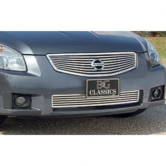 "E&G Classics® - 2-Pc ""Q"" Style Polished CNC Machined Main and Bumper Grille Kit"