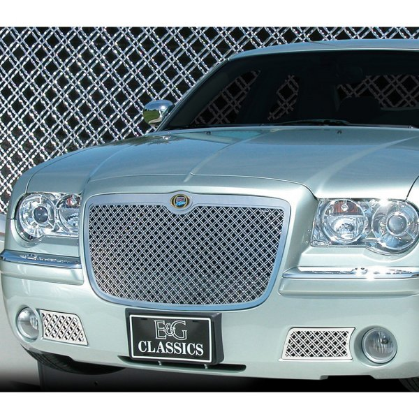 E&G Classics® - Chrome Plated Dual Weave Mesh Main and Bumper Grille Kit