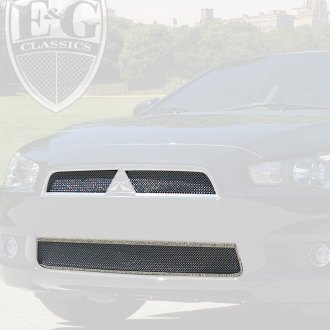 E&G Classics® - 3-Pc Chrome Super Fine Mesh Main and Bumper Grille Kit