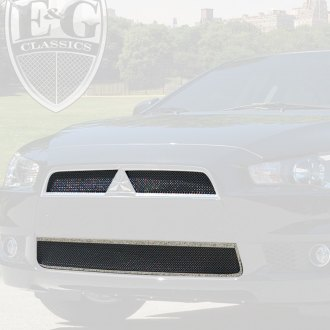 E&G Classics® - 3-Pc Black Ice Super Fine Mesh Main and Bumper Grille Kit